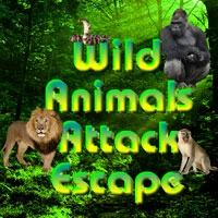 Free online flash games - Wild Animals Attack Escape game - WowEscape