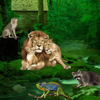 Free online flash games - Wild Animals Forest Escape game - WowEscape