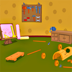 Free online flash games - Wooden Tool Room Escape game - Escape