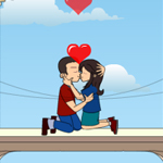 Free online flash games - Balcony Kiss game - WowEscape