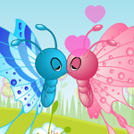 Free online flash games - Butterfly Kiss game - WowEscape