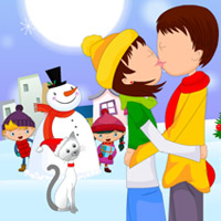 Free online flash games - Christmas Love Kissing game - WowEscape