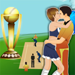 Free online flash games - Re Cricket Player Kiss game - WowEscape