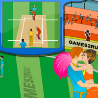Free online flash games - Cricket World Cup Kiss game - WowEscape