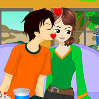 Free online flash games - Happy Mood Kissing game - WowEscape