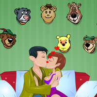 Free online flash games - Kiss between Animal Mounted game - WowEscape