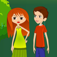 Free online flash games - Love Park Kissing game - Games2Rule