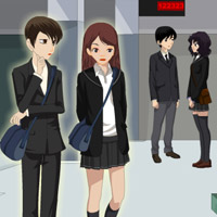 Free online flash games - School Hall Kiss game - Games2Rule