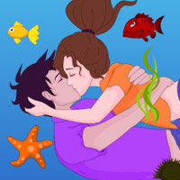 Free online flash games - Sinking Kiss game - WowEscape