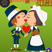 Free online flash games - Thanksgiving Farm Kissing game - WowEscape