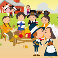 Free online flash games - Thanksgiving Party Kiss game - WowEscape