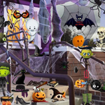 Free online flash games - Halloween Room game - WowEscape
