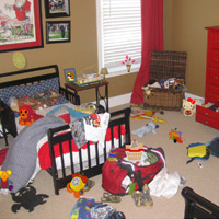 Messy Kids Room Objects