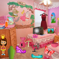 Free online flash games - Messy Princess Room game - WowEscape