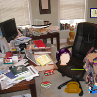 Free online flash games - Messy Study Room game - WowEscape