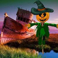 Free online html5 escape games - Halloween Rock Lake Escape HTML5