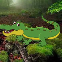 Free online html5 games - Strange Crocodile Forest Escape HTML5 game