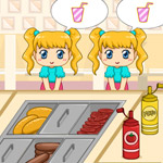 Free online flash games - Burger Shop Frenzy game - WowEscape