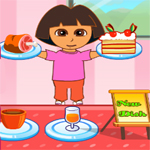 Free online flash games - Dora Family Restaurant game - WowEscape