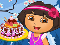 Free online flash games - Dora Royal Cake game - WowEscape