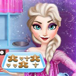 Free online flash games - Elsa cooking Gingerbread game - WowEscape