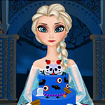 Free online flash games - Elsa Halloween Cake game - WowEscape