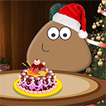 Free online flash games - Pou Christmas Cake game - WowEscape