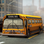 Free online flash games - 3D Parking School Bus Mania game - WowEscape