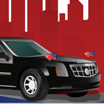 Free online flash games - Presidential Car Rush game - WowEscape