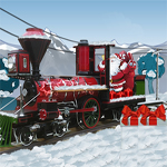 Free online flash games - Santa Steam Train Delivery game - WowEscape