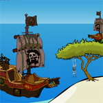 Free online flash games - Escape Treasure From Pirate Island game - WowEscape