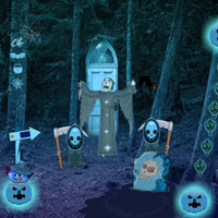 Free online flash games - Halloween Creepy Forest Escape game - WowEscape
