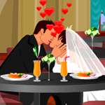 Free online flash games - Dinning Table Kissing game - WowEscape