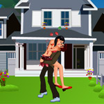 Free online flash games - Neighborhood Kissing game - WowEscape