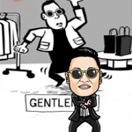 Free online flash games - PSY Gentleman Dance game - Games2Rule