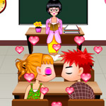 Free online flash games - Secretly Kissing In Class game - WowEscape