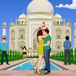 Free online flash games - Tajmahal Kissing game - WowEscape