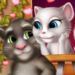 Free online flash games - Tom And Angela Kissing game - WowEscape