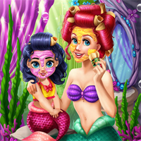 Free online flash games - Ariel Mommy Real Makeover game - WowEscape