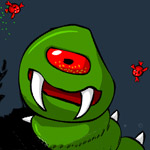 Free online flash games - Bazzy Worm game - WowEscape