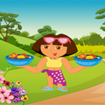 Free online flash games - Dora Messy Food game - WowEscape
