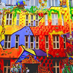 Free online flash games - Find The Spot Colorful House game - WowEscape