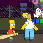 Free online flash games - Kick Ass Homer game - WowEscape