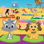Free online flash games - Pets Beachcare game - WowEscape