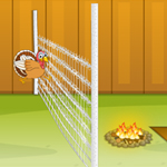 Free online flash games - Turkey Fence Jump game - WowEscape