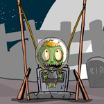 Free online flash games - Zombie Head Mars game - WowEscape
