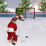 Free online flash games - Santas Hockey Shootout game - WowEscape