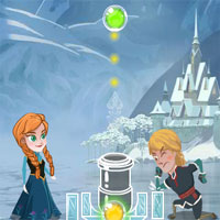 Free online flash games - Anna And Kristoff Bubble game - WowEscape