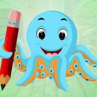Free online flash games - G4K Blue Octopus Escape game - WowEscape