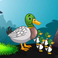Free online flash games - G2M Duckling Rescue Final Series game - WowEscape